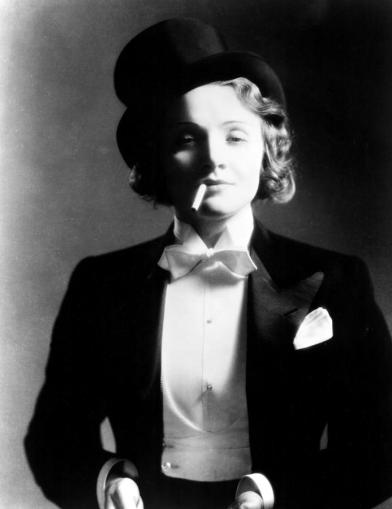 Marlene Dietrich defying gender roles